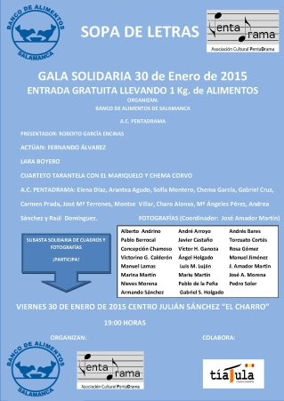 Gala Banco de Alimentos 30-01-2015