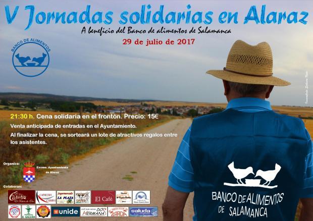 Cartel jornadas solidarias 2017 DIN A3 baja calidad